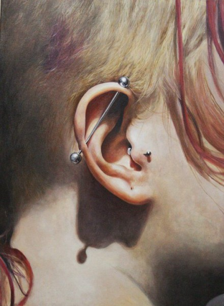 Piercing I, 50 x 80 cm, oil on canvas